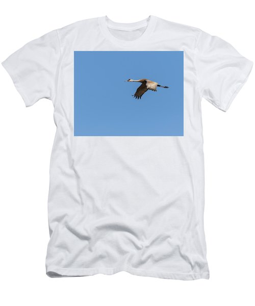 Men's T-Shirt (Slim Fit) featuring the photograph Sandhill Crane 2017-1 by Thomas Young