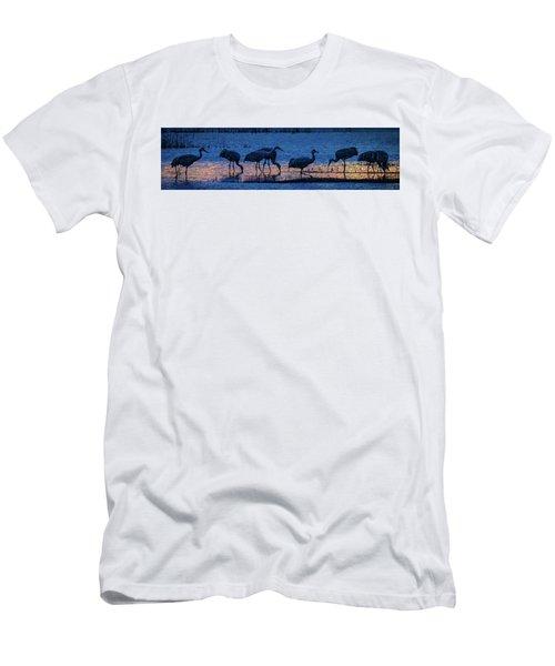 Sandhill Cranes At Twilight Men's T-Shirt (Athletic Fit)