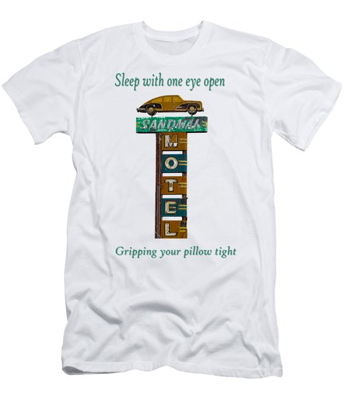 Sandman Motel 2 Men's T-Shirt (Slim Fit) by Rick Mosher