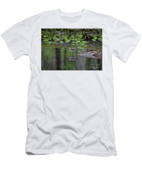 Men's T-Shirt (Slim Fit) featuring the photograph Sandpiper In The Smokies II by Douglas Stucky