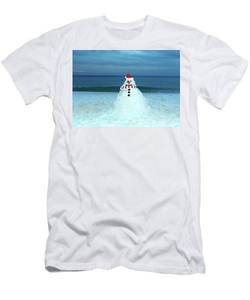 Sandy The Snowman Men's T-Shirt (Athletic Fit)