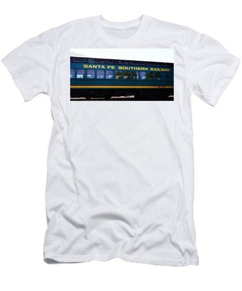 Santa Fe Train Men's T-Shirt (Slim Fit) by Joseph Frank Baraba