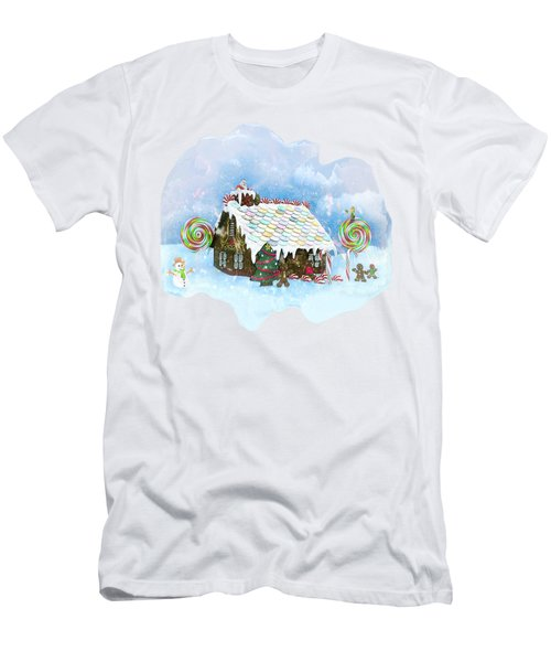 Santa Loves Cookies Men's T-Shirt (Slim Fit) by Methune Hively