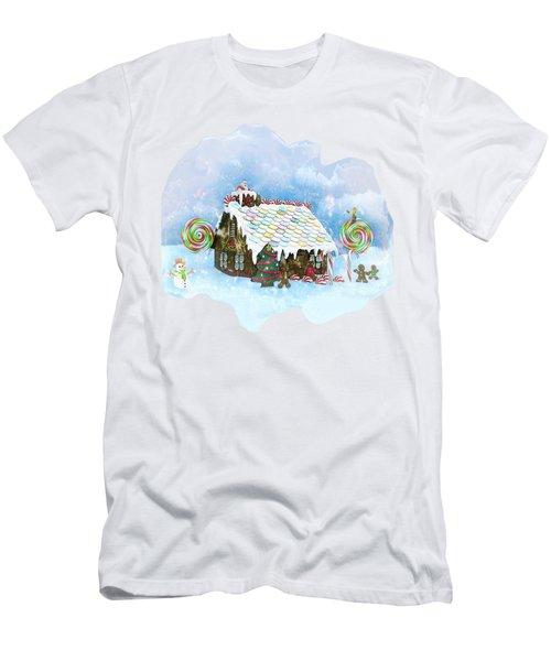 Santa Loves Cookies Men's T-Shirt (Athletic Fit)