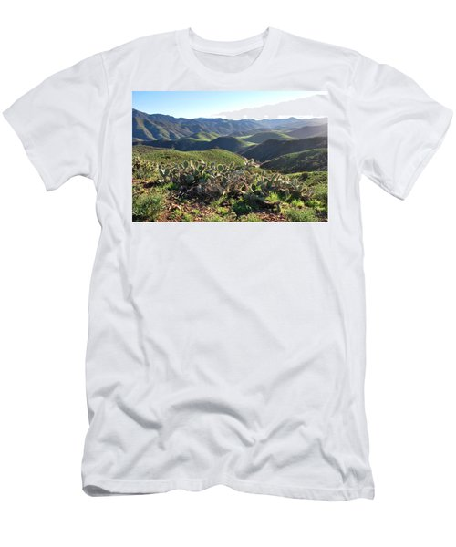Santa Monica Mountains - Hills And Cactus Men's T-Shirt (Athletic Fit)