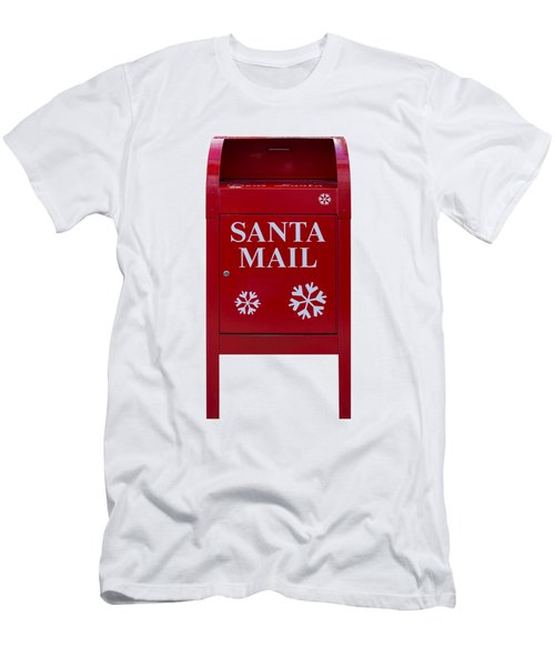 Santa Red Mail Box Men's T-Shirt (Athletic Fit)
