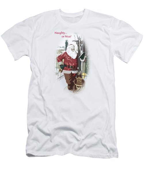 Santa's Checklist Men's T-Shirt (Athletic Fit)