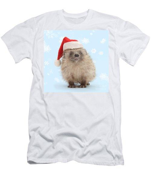 Santa's Prickly Pal Men's T-Shirt (Athletic Fit)