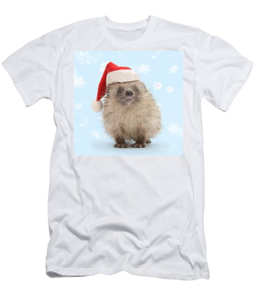 Santa's Prickly Pal Men's T-Shirt (Athletic Fit)