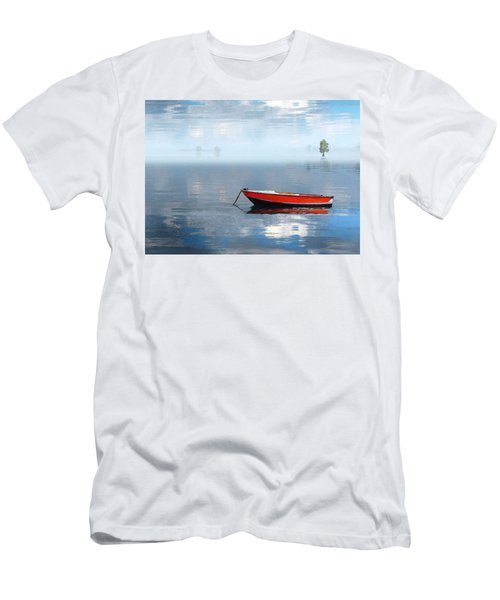 Men's T-Shirt (Slim Fit) featuring the photograph Santee Lakes Serenity by Deborah Smith