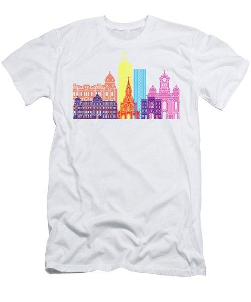 Santiago De Cali Skyline Pop Men's T-Shirt (Athletic Fit)