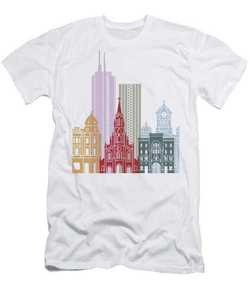 Santiago De Cali Skyline Poster Men's T-Shirt (Athletic Fit)