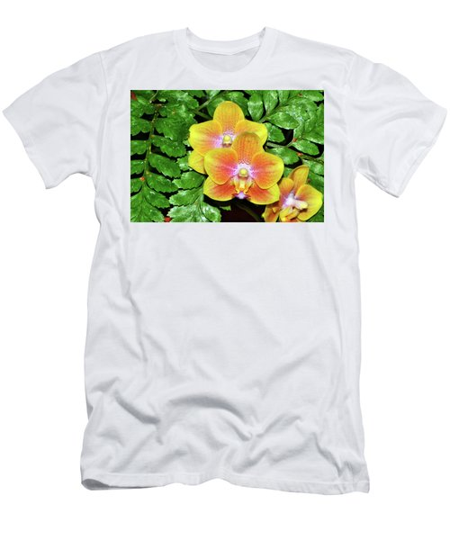 Sara Gold Orchids 003 Men's T-Shirt (Slim Fit) by George Bostian