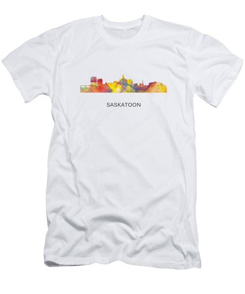 Saskatoon Sask.skyline Men's T-Shirt (Slim Fit)