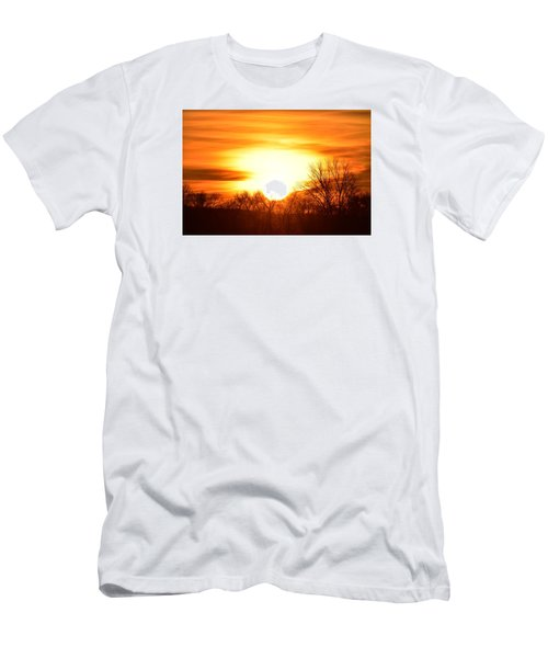 Men's T-Shirt (Slim Fit) featuring the photograph Saturday Mornings Sunrise by Dacia Doroff