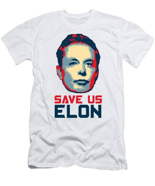 Save Us Elon Pop Art Men's T-Shirt (Athletic Fit)