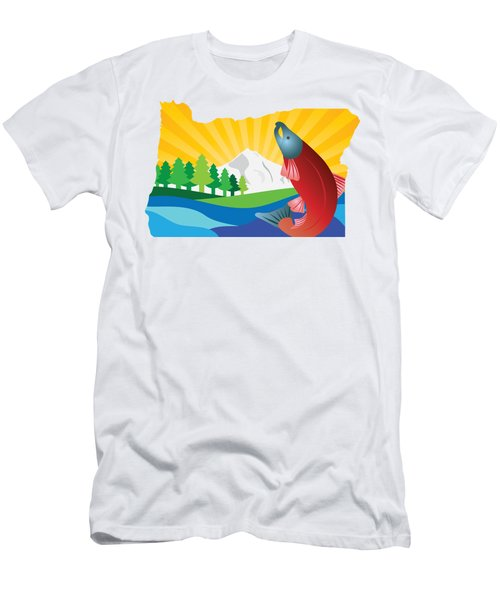 Scenic State Of Oregon Map Men's T-Shirt (Athletic Fit)