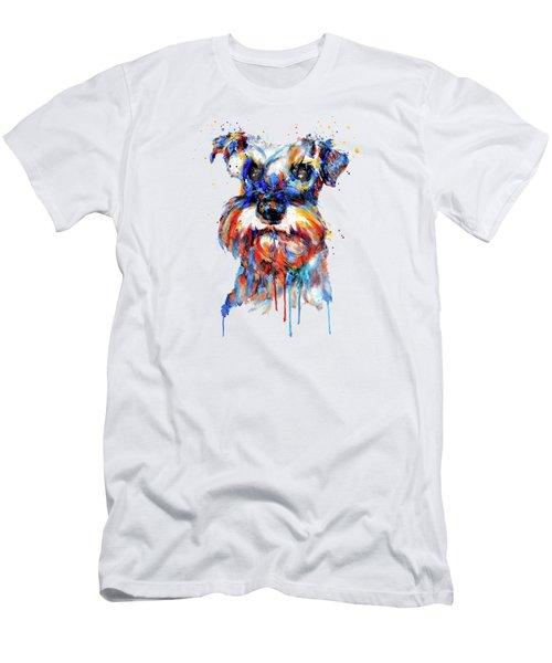Schnauzer Head Men's T-Shirt (Slim Fit)