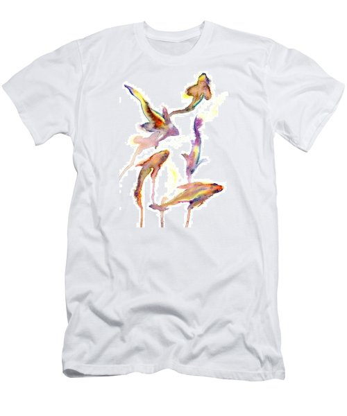 Men's T-Shirt (Athletic Fit) featuring the painting School En Plein Aire by Ashley Kujan