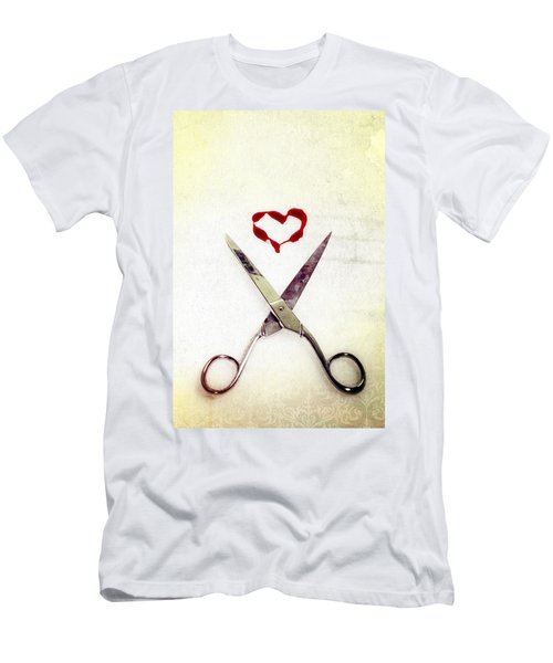 Scissors And Heart Men's T-Shirt (Athletic Fit)