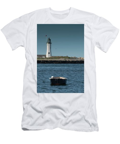 Scituate Lighthouse Men's T-Shirt (Athletic Fit)