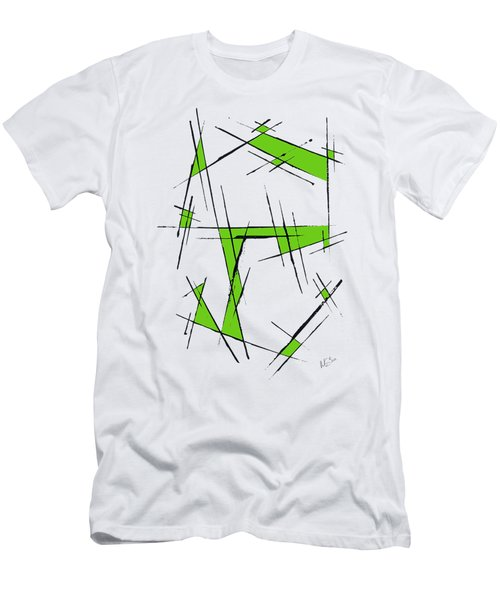 Scratched With Green Men's T-Shirt (Athletic Fit)