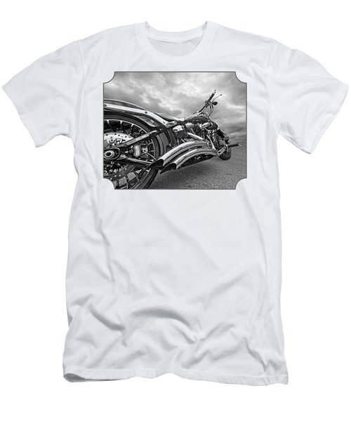 Screamin Eagle 103 In Black And White Men's T-Shirt (Athletic Fit)