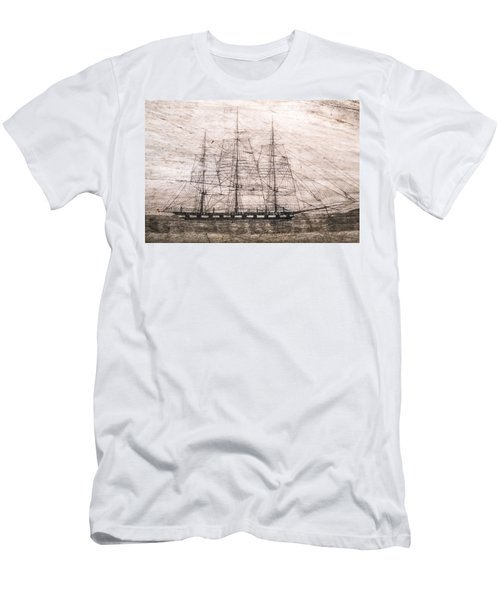 Scrimshaw Whale Panbone Men's T-Shirt (Athletic Fit)
