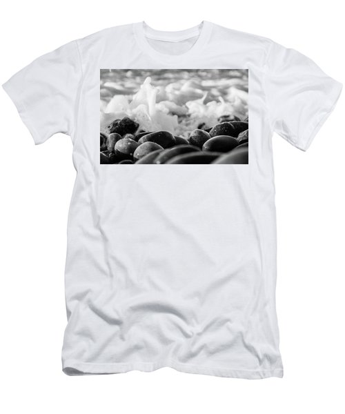 Sea Foam B-w Men's T-Shirt (Slim Fit) by Sergey Simanovsky