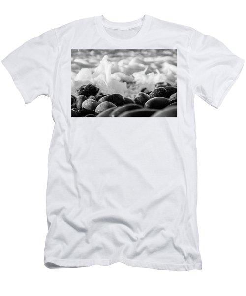 Sea Foam B-w Men's T-Shirt (Athletic Fit)