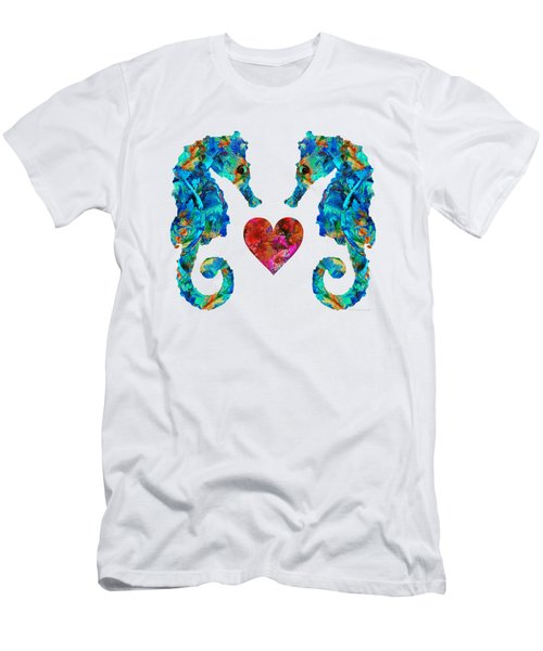 Sea Lovers - Seahorse Beach Art By Sharon Cummings Men's T-Shirt (Athletic Fit)