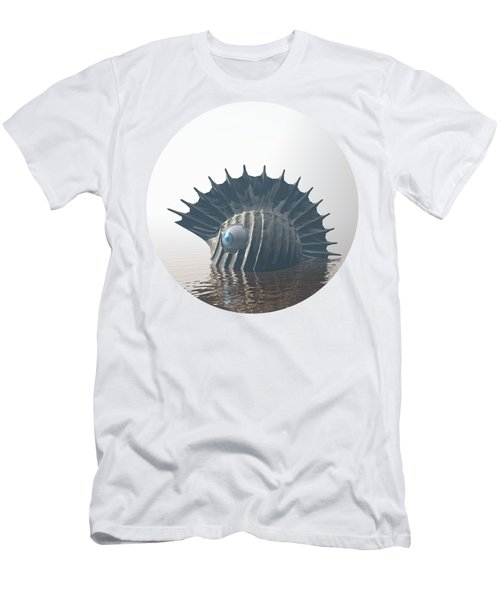 Men's T-Shirt (Slim Fit) featuring the digital art Sea Monsters by Phil Perkins