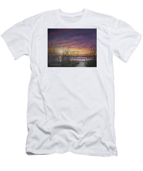 Sea Oat Sunrise # 3 Men's T-Shirt (Athletic Fit)