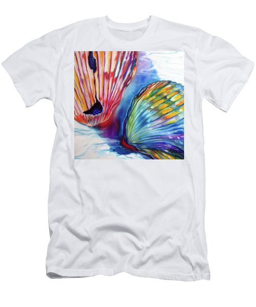 Sea Shell Abstract II Men's T-Shirt (Athletic Fit)