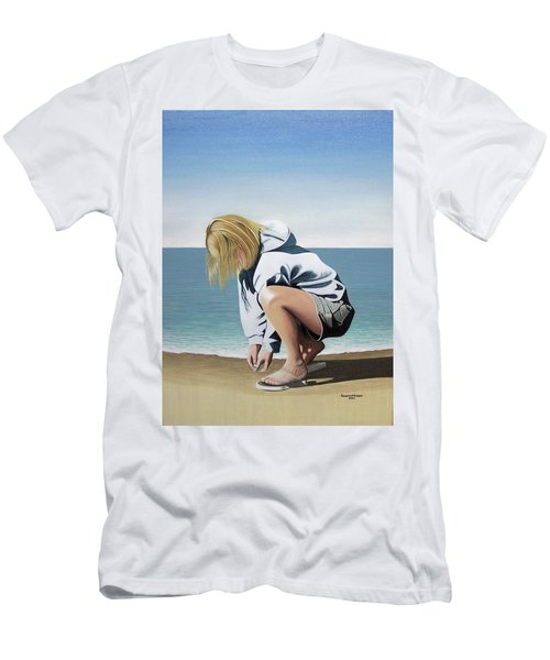 Sea Shells On The Beach Men's T-Shirt (Athletic Fit)