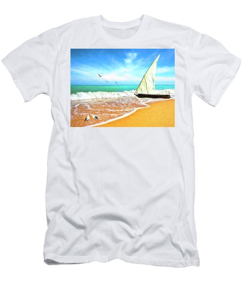 Sea Shore Men's T-Shirt (Athletic Fit)