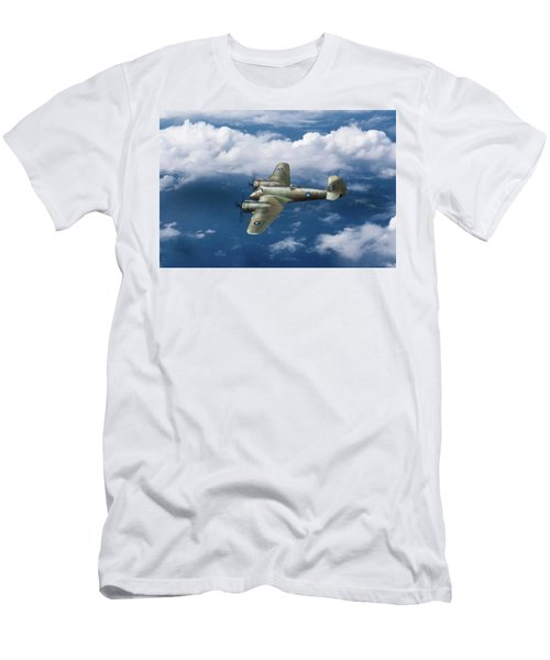 Men's T-Shirt (Athletic Fit) featuring the photograph Seac Beaufighter by Gary Eason