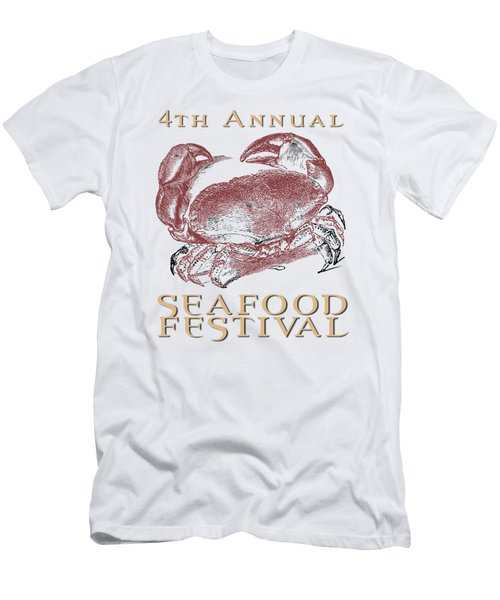 Men's T-Shirt (Slim Fit) featuring the digital art Seafood Festival Tee by Edward Fielding