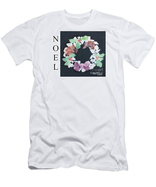 Men's T-Shirt (Slim Fit) featuring the painting Seaglass Wreath by Stan Tenney