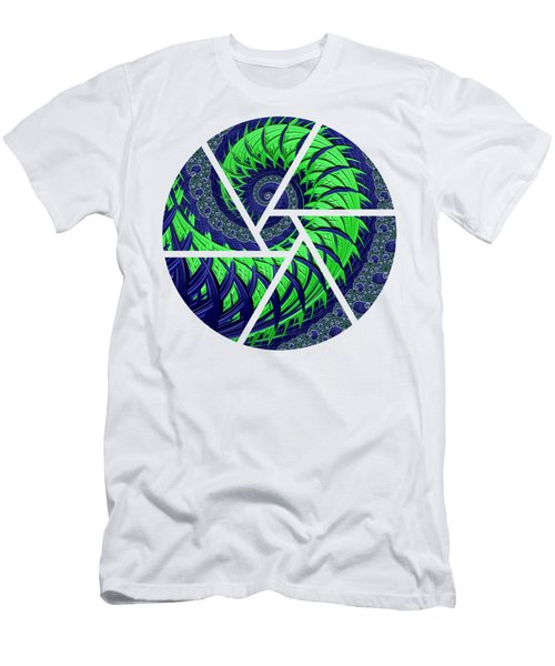 Men's T-Shirt (Athletic Fit) featuring the digital art Seahawks Spiral by Becky Herrera