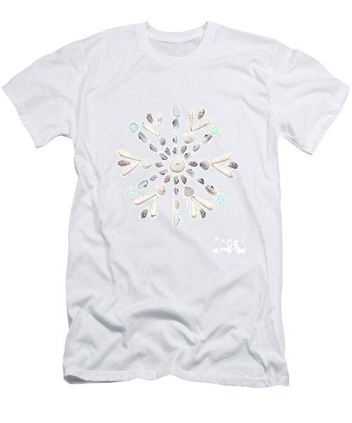 Seashell Snowflake 2 Men's T-Shirt (Athletic Fit)