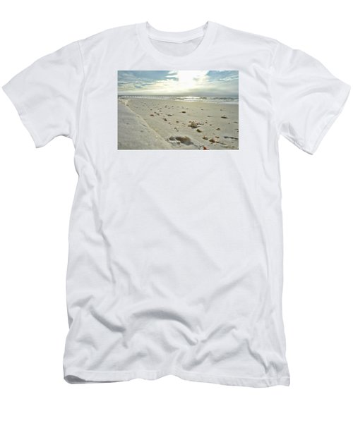 Men's T-Shirt (Slim Fit) featuring the photograph Seashells On The Seashore by Renee Hardison