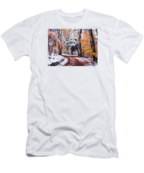 Men's T-Shirt (Slim Fit) featuring the photograph Seasons Cross by Betsy Zimmerli