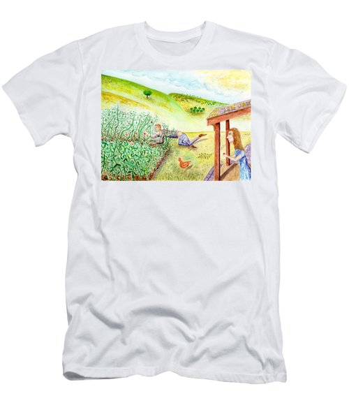 Seasons First Tomatoes Men's T-Shirt (Athletic Fit)