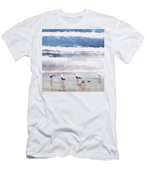 Men's T-Shirt (Slim Fit) featuring the photograph Seaspray by Holly Kempe