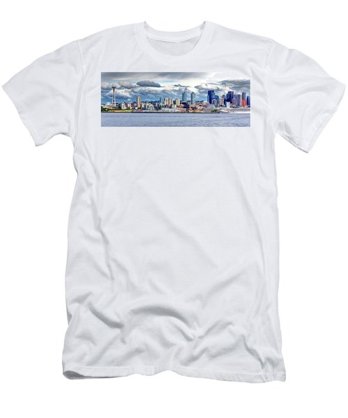 Seattle Skyline Hdr Men's T-Shirt (Athletic Fit)