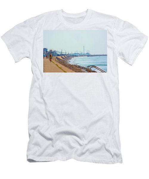 Seawall Blvd Men's T-Shirt (Athletic Fit)