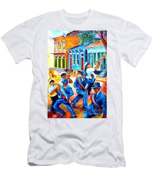 Second Line In Treme Men's T-Shirt (Athletic Fit)