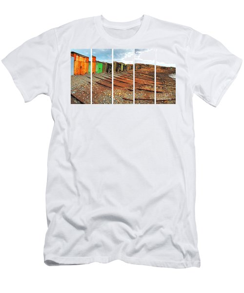 Men's T-Shirt (Athletic Fit) featuring the photograph Second Valley Boat Sheds by Stephen Mitchell