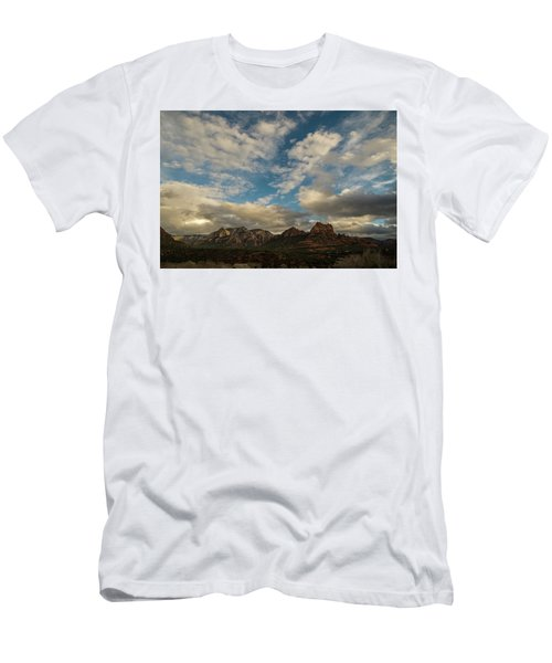 Men's T-Shirt (Slim Fit) featuring the photograph Sedona Arizona Redrock Country Landscape Fx1 by David Haskett